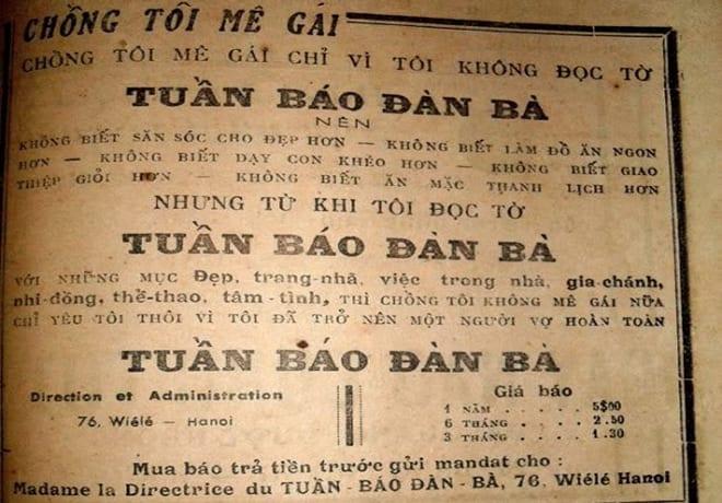 Theo một số nhà nghiên cứu về đời sống người Sài Gòn xưa, lối quảng cáo thời đó đa phần xuất xứ từ Pháp và được người Việt cách tân lại. Những mẫu quảng cáo này đơn giản, dễ hiểu cho phần đông độc giả đồng thời có giá trị ghi nhớ thương hiệu sâu sắc vì tính hài hước, dí dỏm.