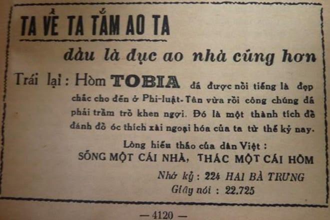 """Trên báo chí, loại hòm này cũng được quảng cáo rầm rộ với những từ ngữ rất """"kêu"""". Ngay từ thời này, cụm từ """"người Việt dùng hàng Việt"""", """"Ta về ta tắm ao ta, dầu là đục ao nhà cũng hơn""""... đã được sử dụng."""