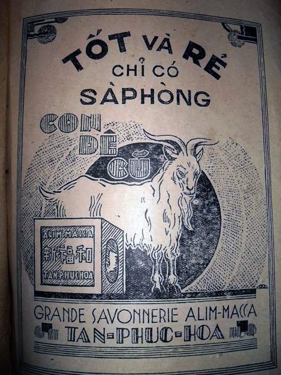 Mẫu quảng cáo của hãng xà phòng Tân Phúc Hoa.
