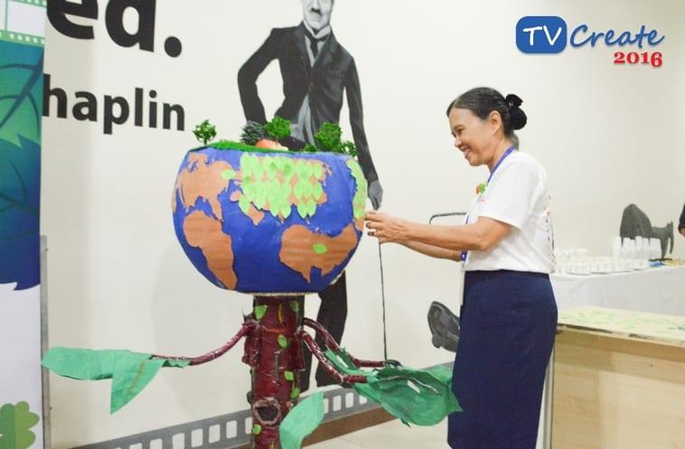 Cô Bùi Trân Phượng – hiệu trưởng nhà trường trong buổi họp báo TVCreate 2016.