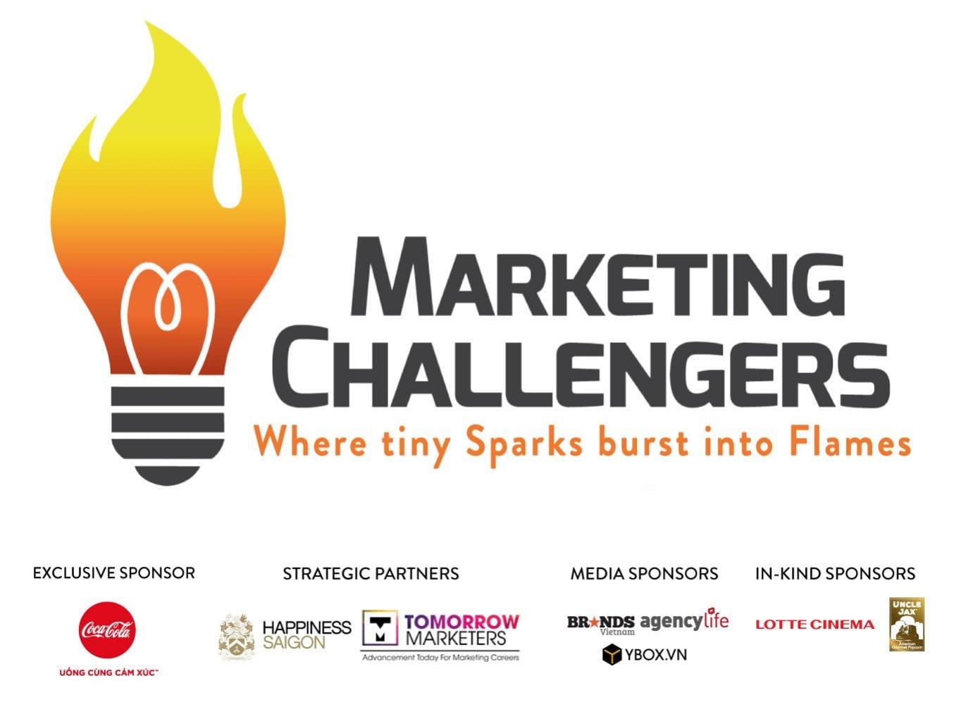 Hình ảnh logo các nhà tại trợ và thương hiệu lâu dài của Marketing Challengers 2016