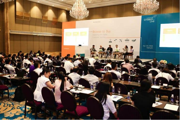 Toàn cảnh sự kiện Criteo Live do Công ty Công nghệ tiếp thị Criteo tổ chức tại TPHCM ngày 3/11
