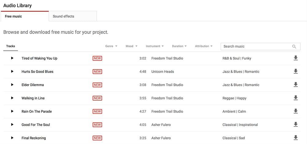 Website nhạc miễn phí và không vi phạm bản quyền