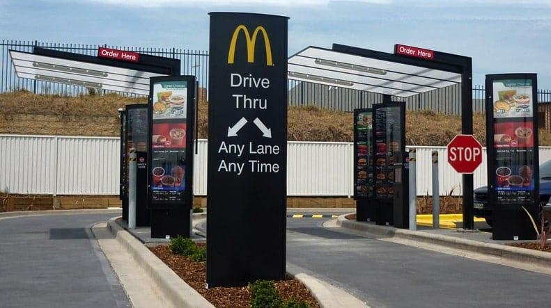 Dịch vụ drive-thru ứng dụng trí tuệ nhân tạo tại McDonald.